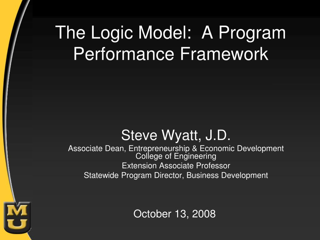 the logic model a program performance framework l.