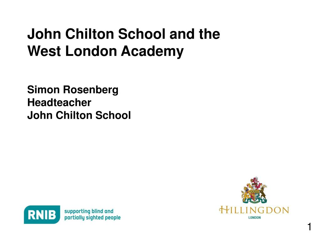 john chilton school and the west london academy l.