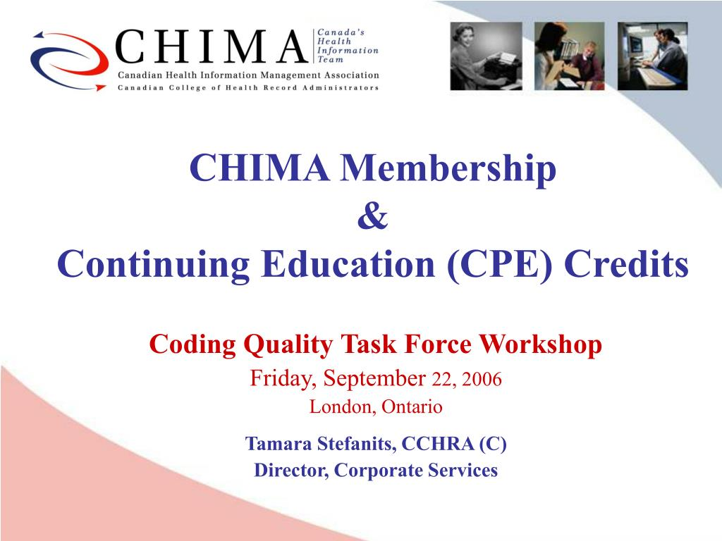 chima membership continuing education cpe credits l.