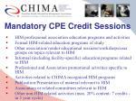 mandatory cpe credit sessions