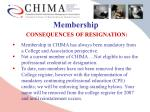 membership consequences of resignation