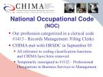 national occupational code noc