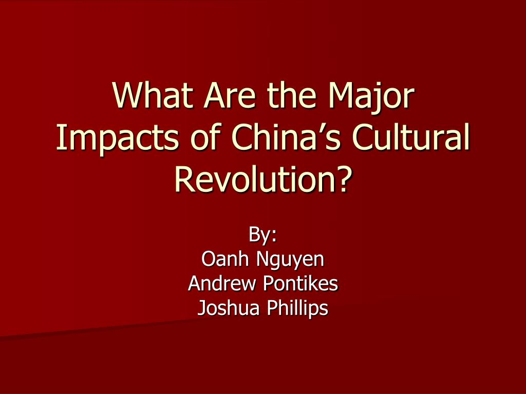 what are the major impacts of china s cultural revolution l.