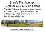 grant s first attempt chickasaw bayou dec 186210