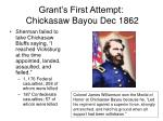 grant s first attempt chickasaw bayou dec 186211