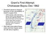 grant s first attempt chickasaw bayou dec 18627