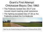 grant s first attempt chickasaw bayou dec 18628