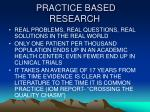 practice based research