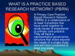what is a practice based research network pbrn