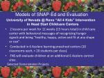 models of snap ed and evaluation57