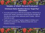 models of snap ed and evaluation58