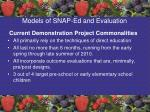 models of snap ed and evaluation61