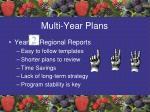 multi year plans