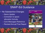snap ed guidance