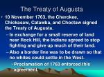the treaty of augusta