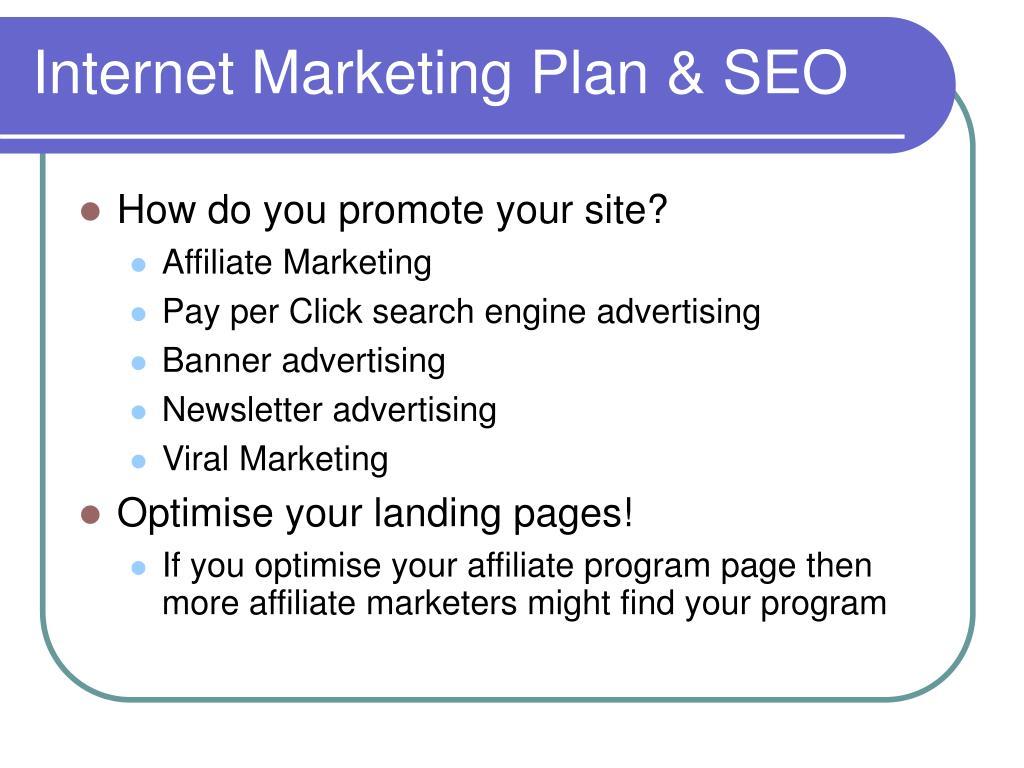 Internet Marketing Plan & SEO