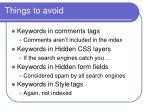 things to avoid46