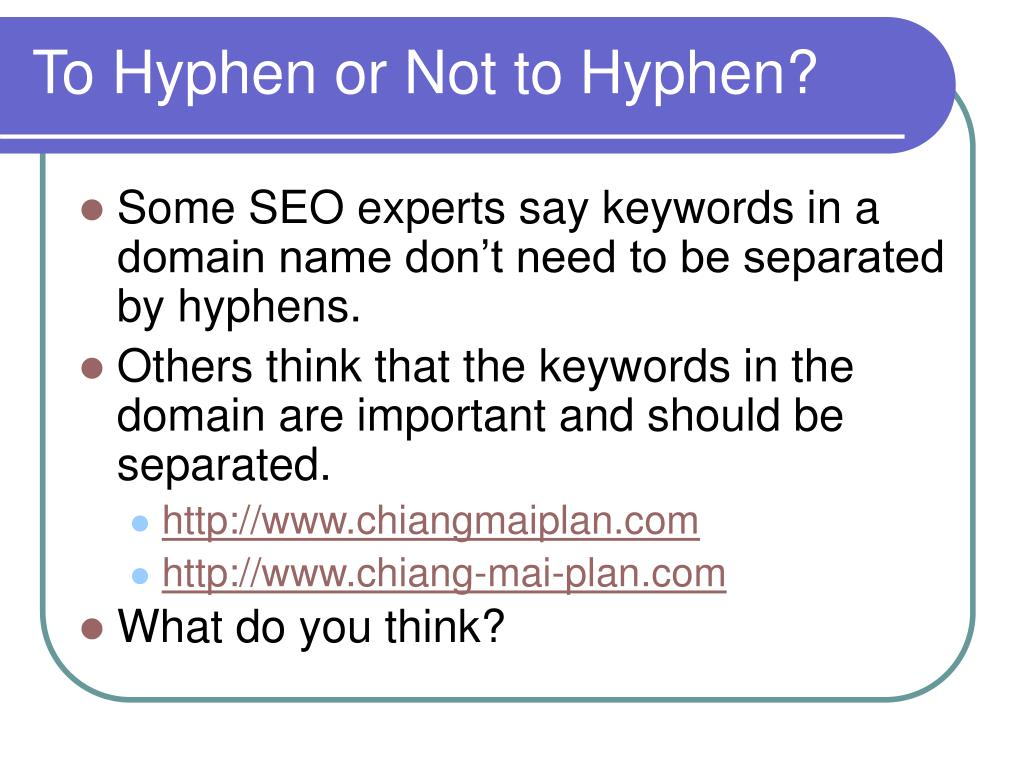 To Hyphen or Not to Hyphen?