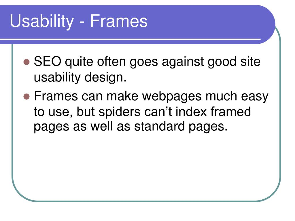 Usability - Frames