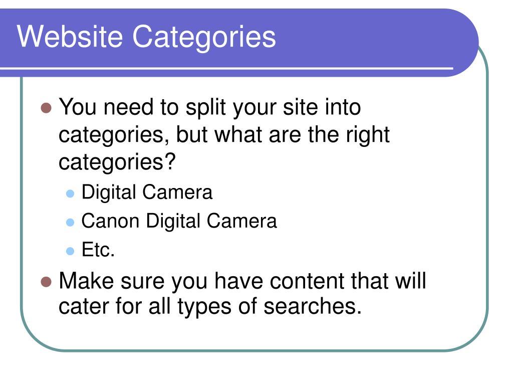 Website Categories