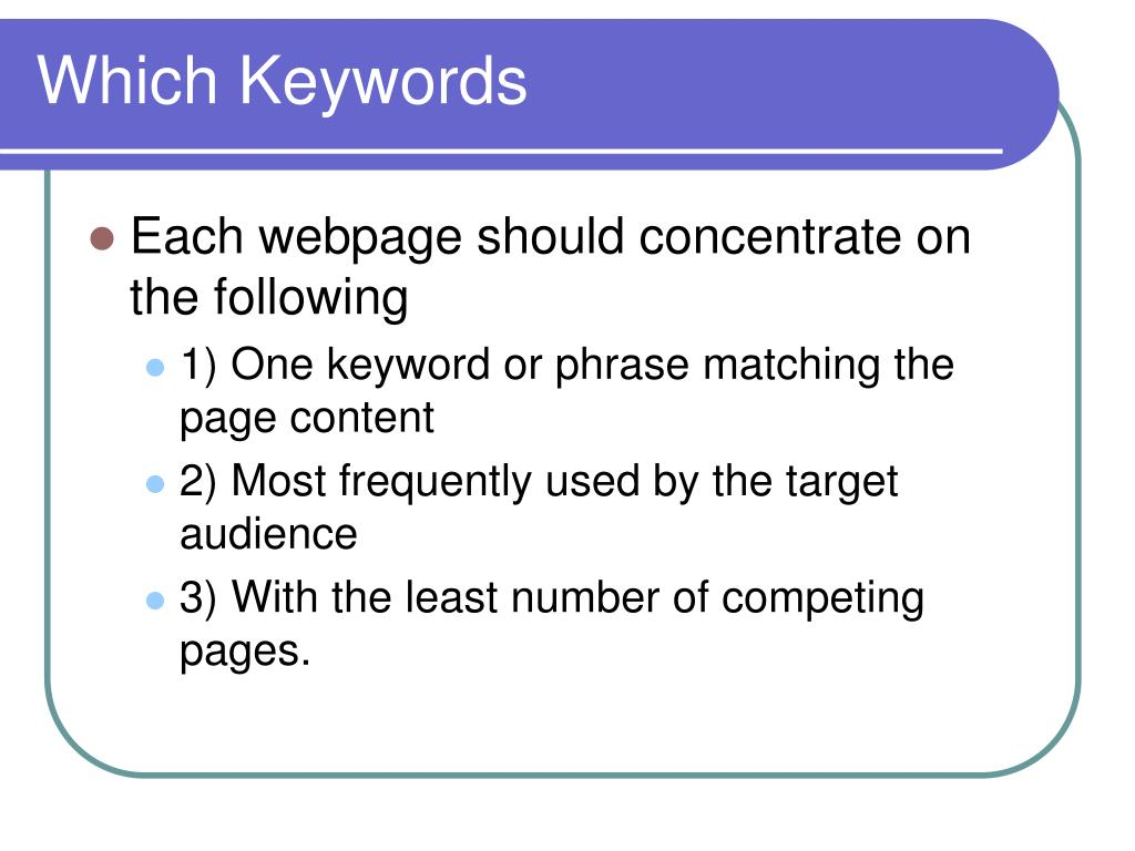 Which Keywords