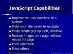 javascript capabilities