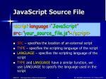 javascript source file