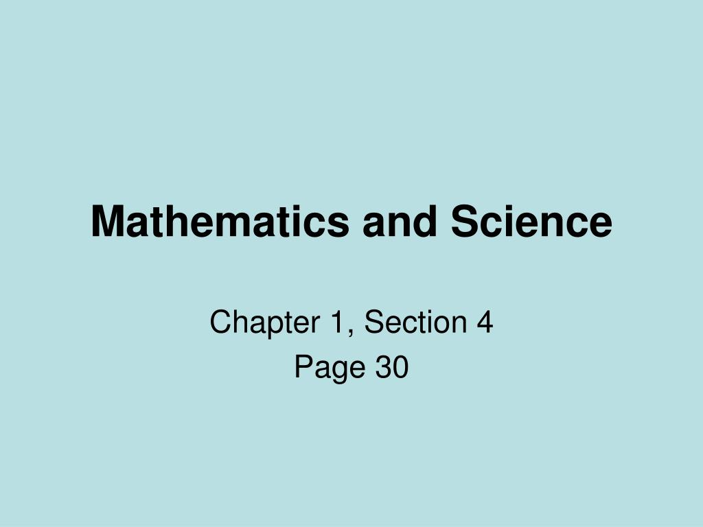 mathematics and science l.