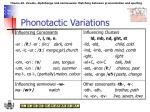phonotactic variations