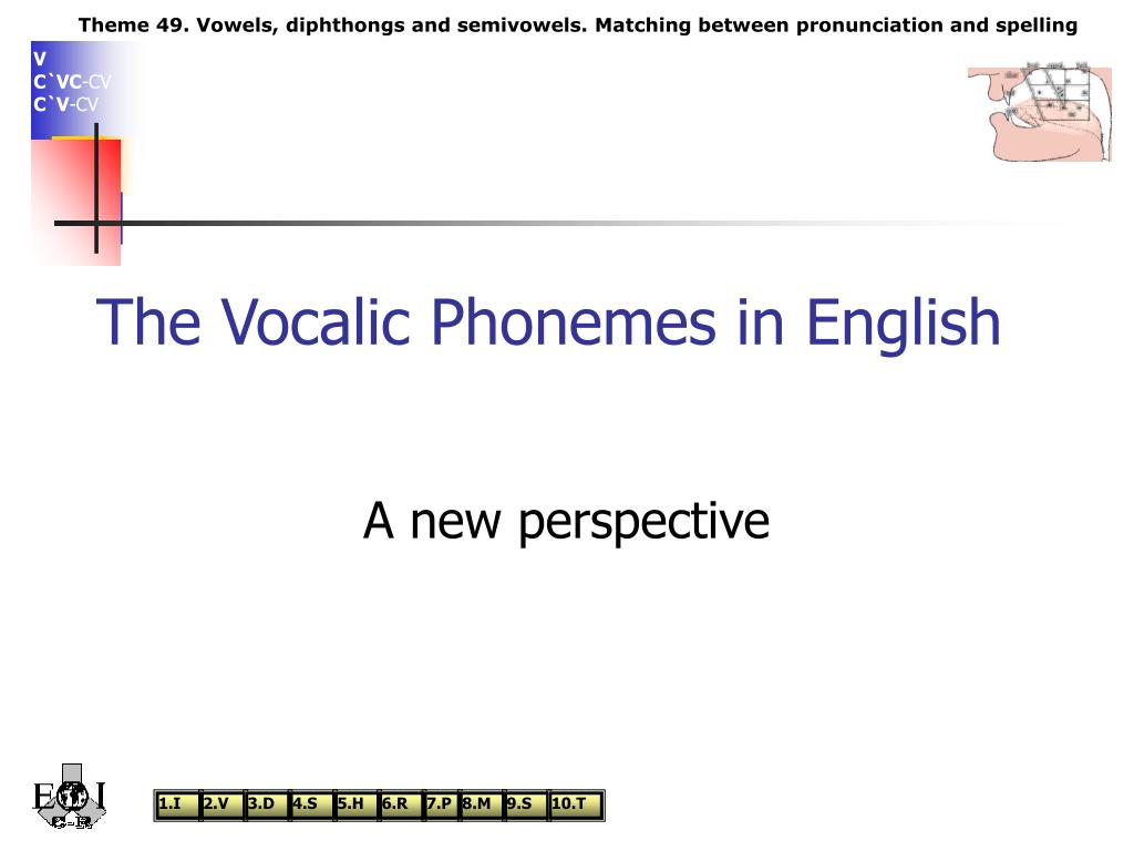 the vocalic phonemes in english l.