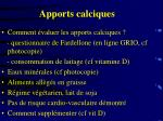 apports calciques48