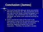 conclusion james