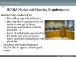 hcqia notice and hearing requirements17