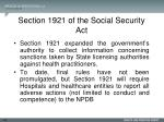 section 1921 of the social security act