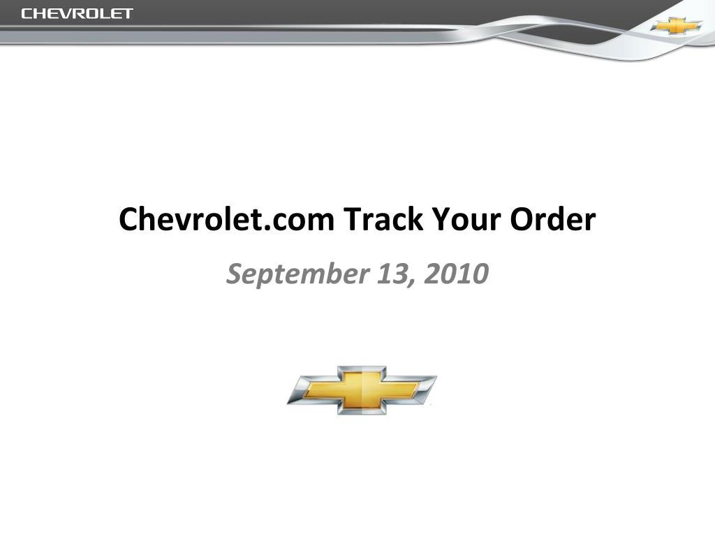 chevrolet com track your order l.