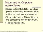 accounting for corporate income taxes24