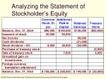 analyzing the statement of stockholder s equity
