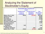 analyzing the statement of stockholder s equity32