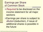earnings per share of common stock18