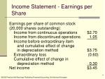 income statement earnings per share