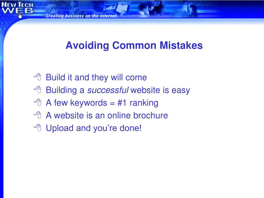 Avoiding Common Mistakes