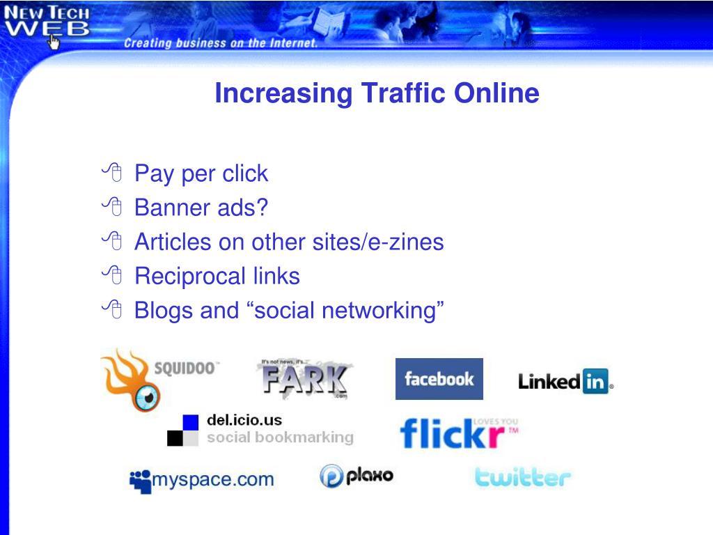Increasing Traffic Online