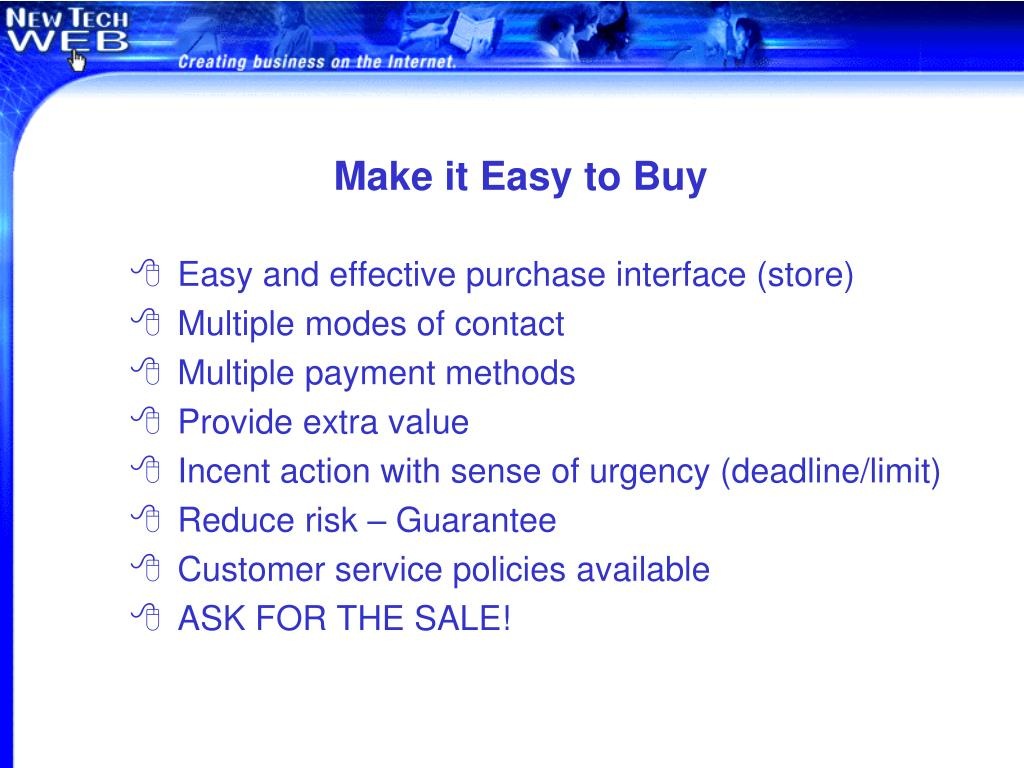 Make it Easy to Buy