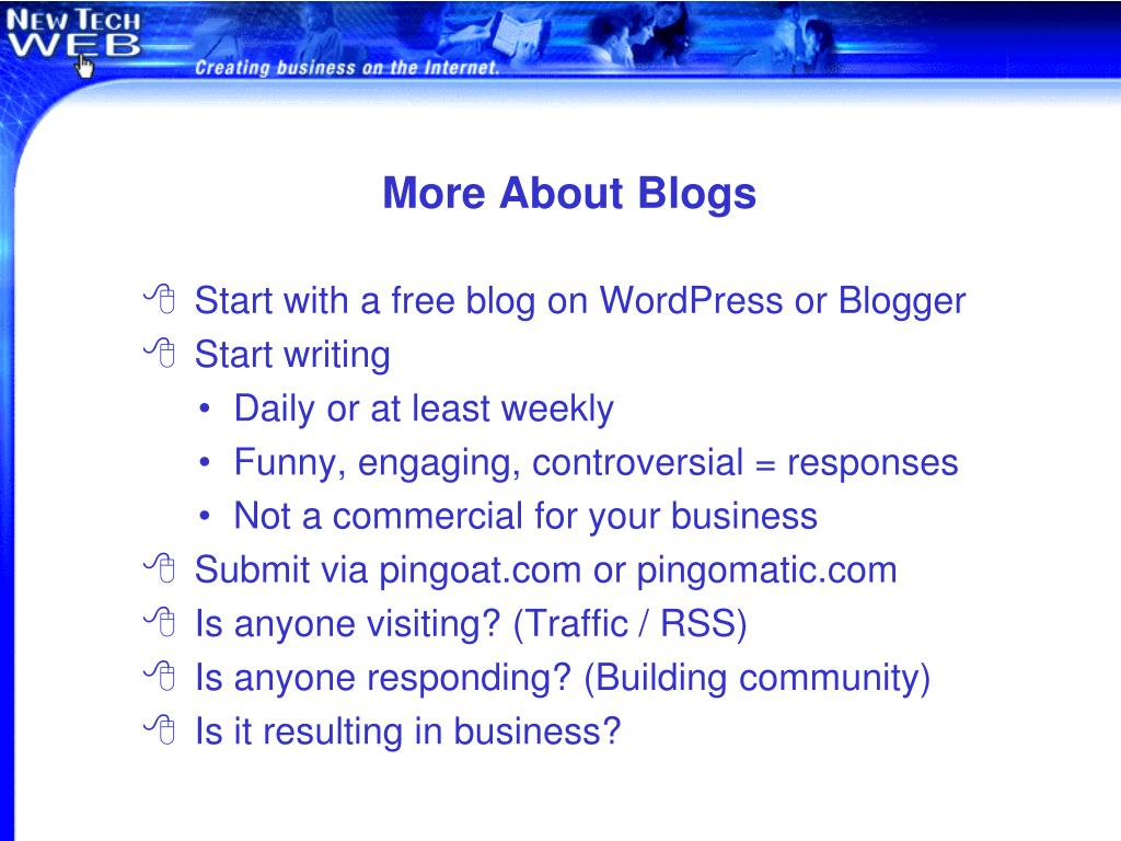 More About Blogs