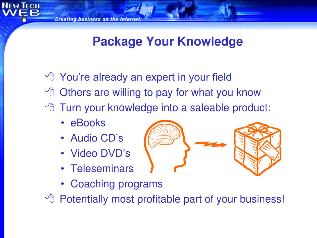 Package Your Knowledge