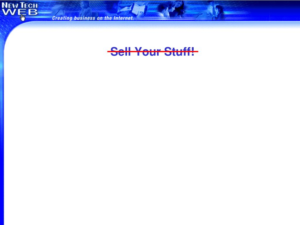 Sell Your Stuff!
