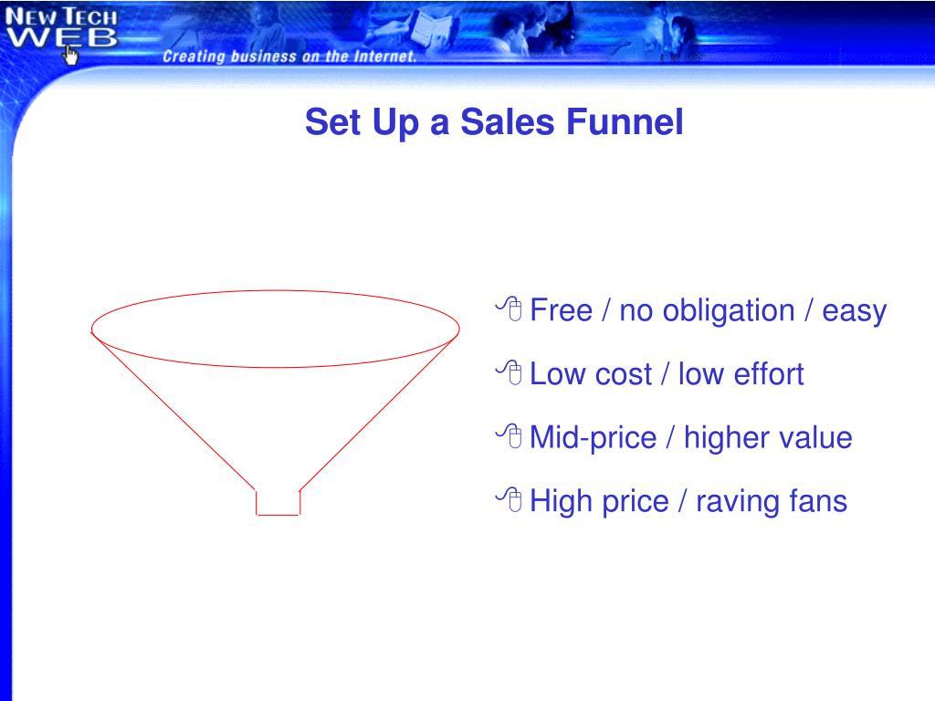 Set Up a Sales Funnel