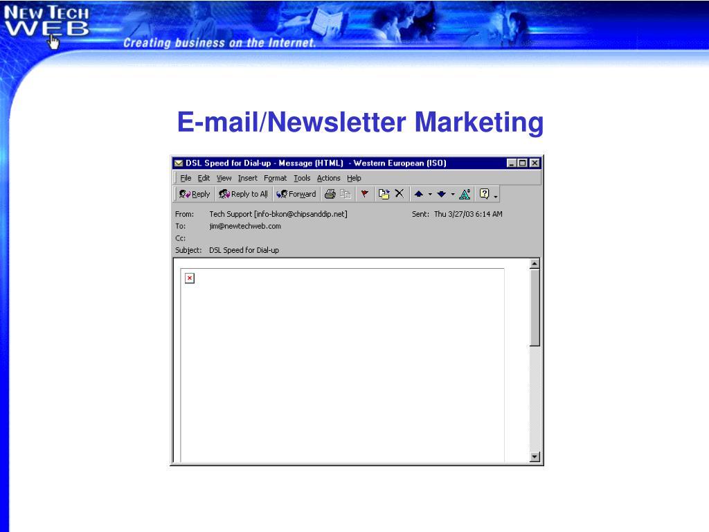 E-mail/Newsletter Marketing