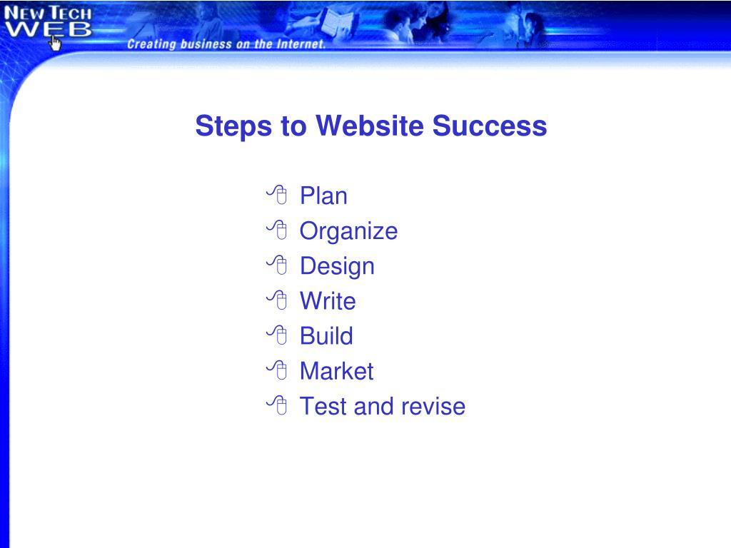 Steps to Website Success