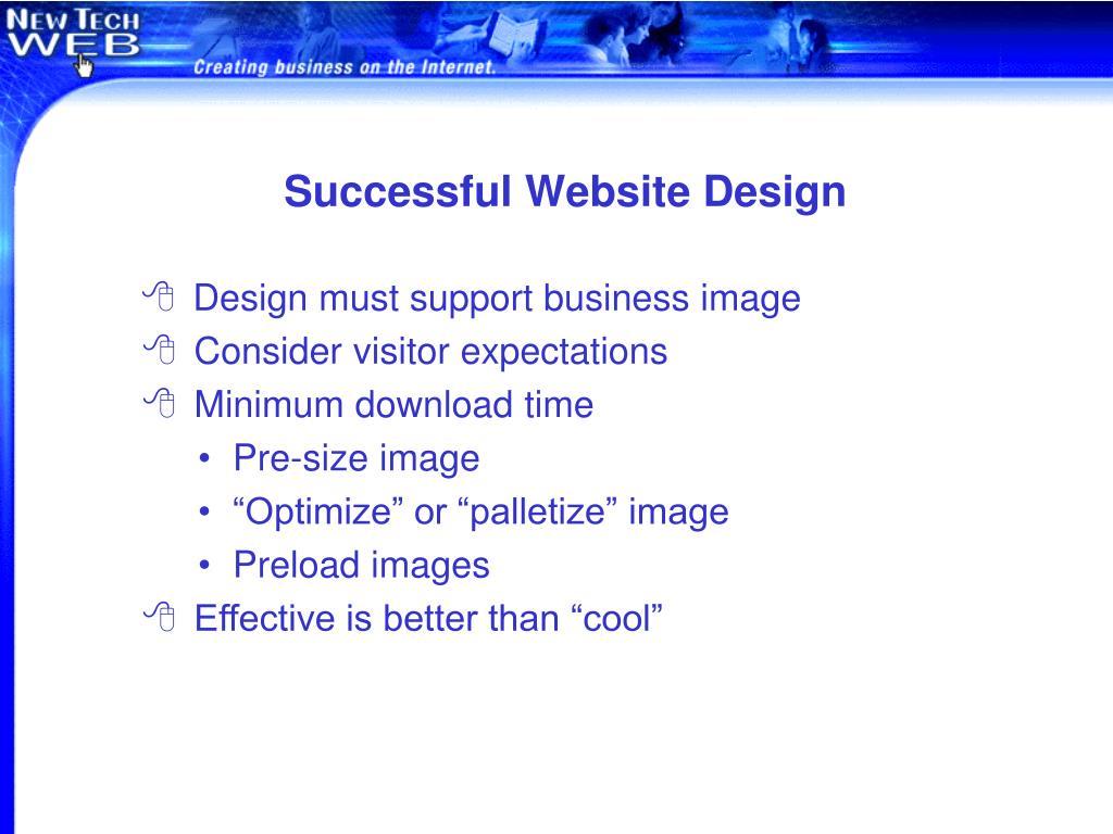 Successful Website Design